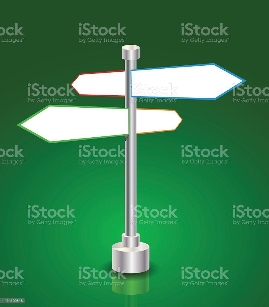 Panneau de Direction stock vecteur libres de droits libre de droits