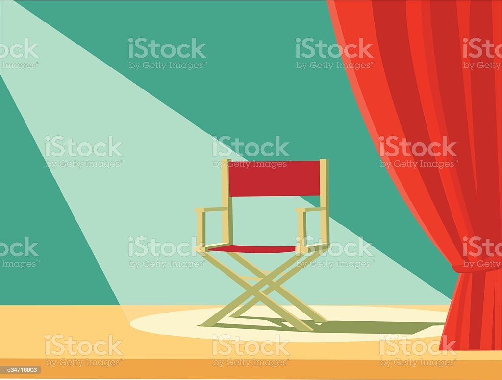 Director chair vector art illustration