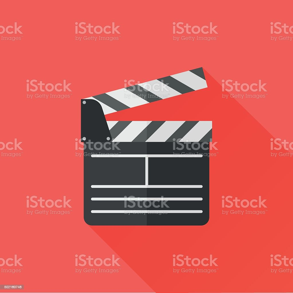 Director clapperboard flat icon. Movie clapper board vector Illustration. vector art illustration