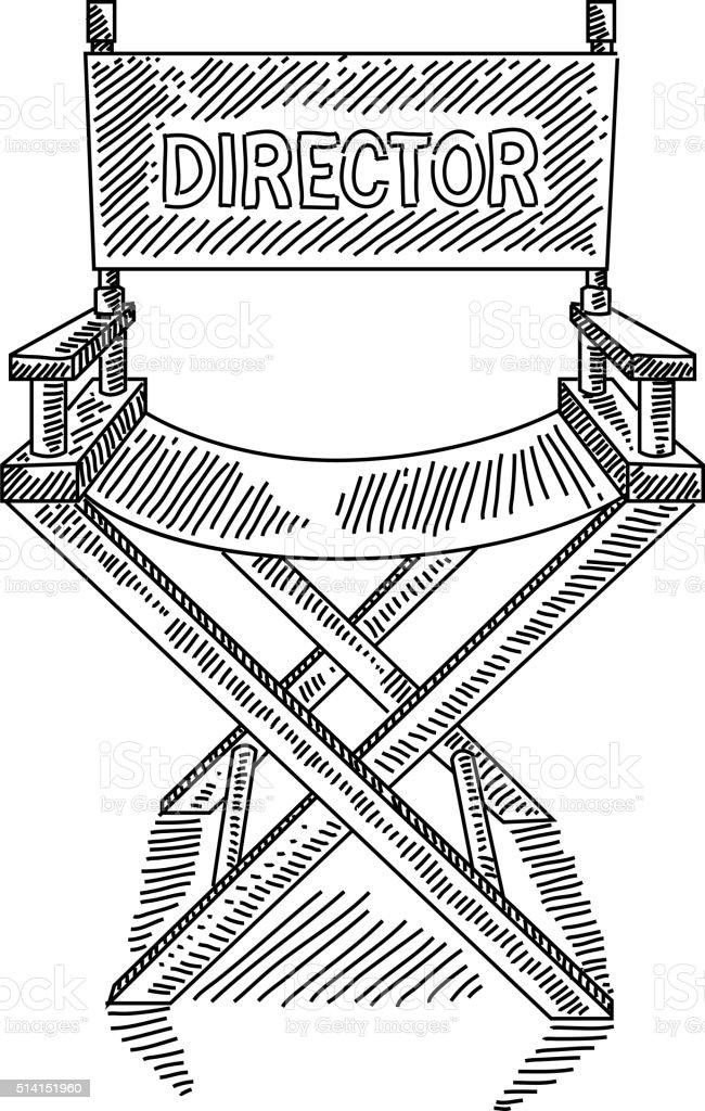 Stuhl bleistiftzeichnung  Regisseure Stuhl Zeichnung Vektor Illustration 514151960 | iStock