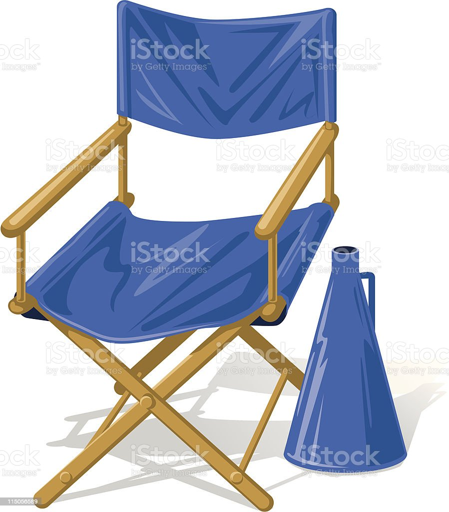 Director's chair vector art illustration