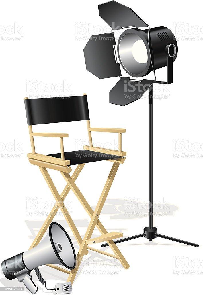 Director's Chair vector art illustration