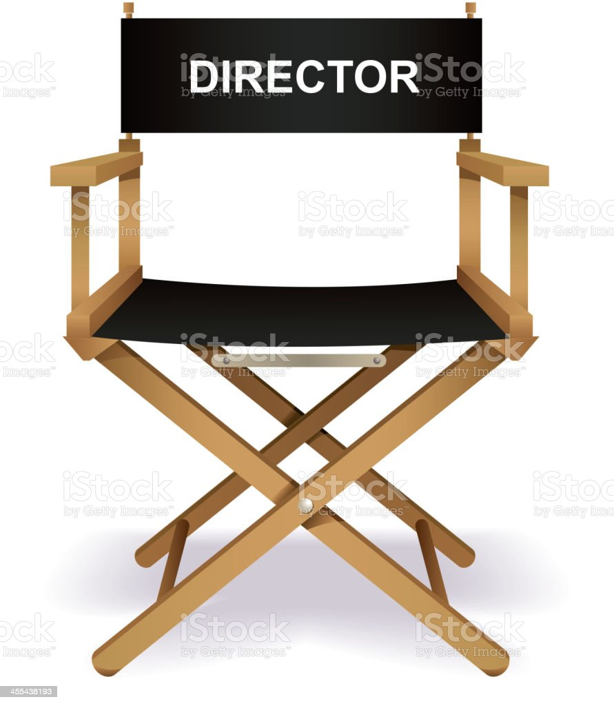 Director`s chair vector art illustration