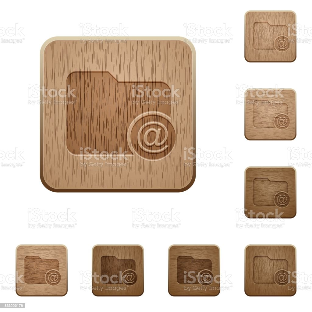 Directory email wooden buttons vector art illustration