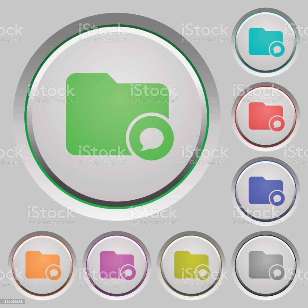 Directory notifications push buttons vector art illustration