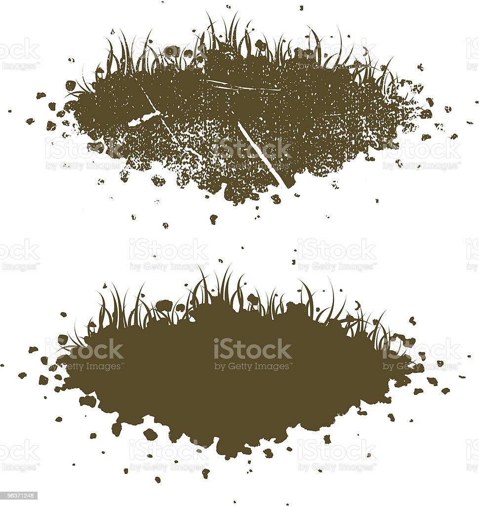 Dirt Piles vector art illustration