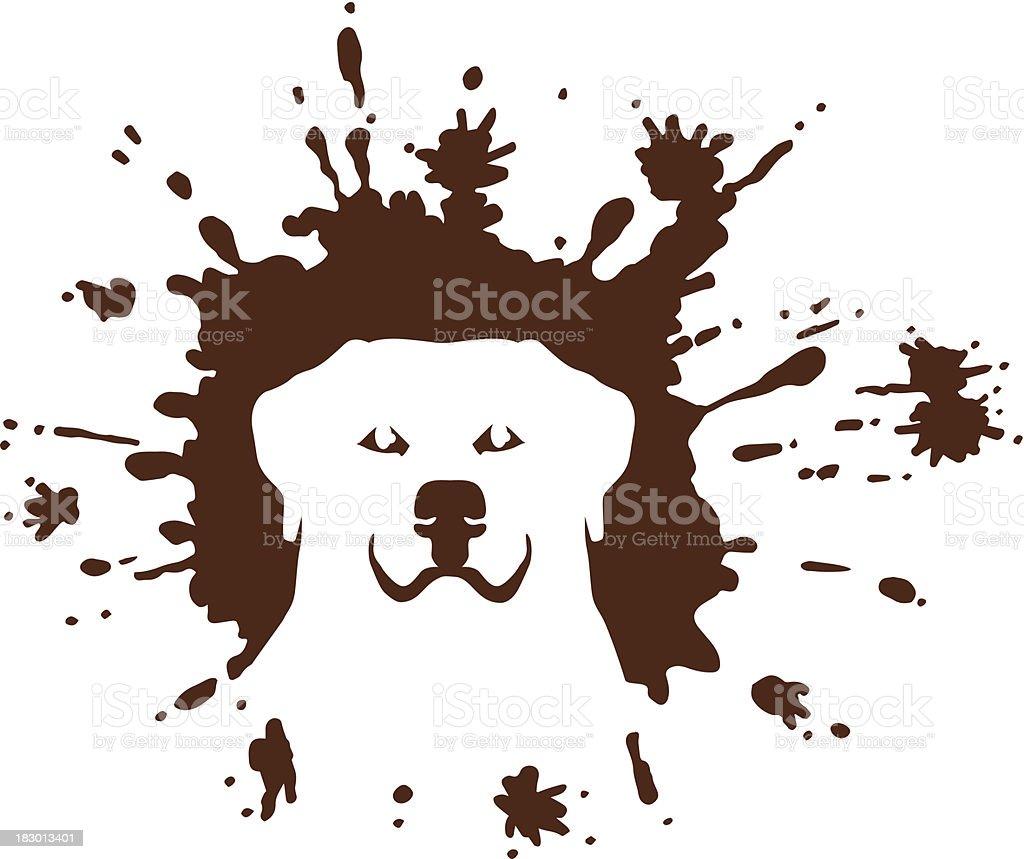 Dirty Dog vector art illustration