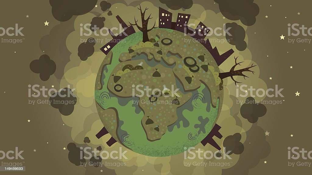 Dirty earth royalty-free stock vector art
