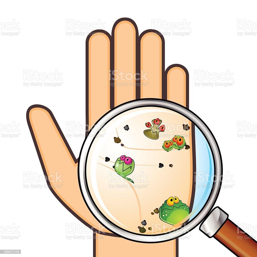 Dirty hand vector art illustration