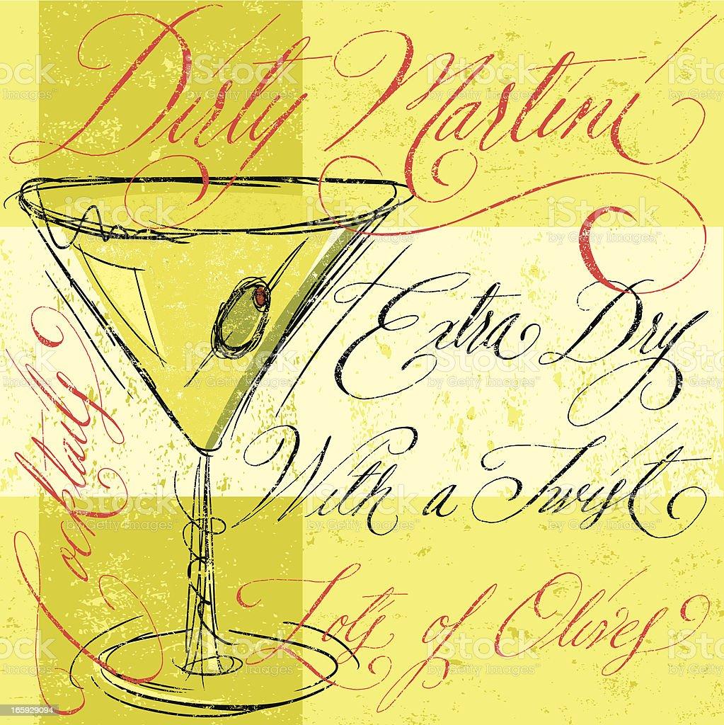 Dirty Martini royalty-free stock vector art