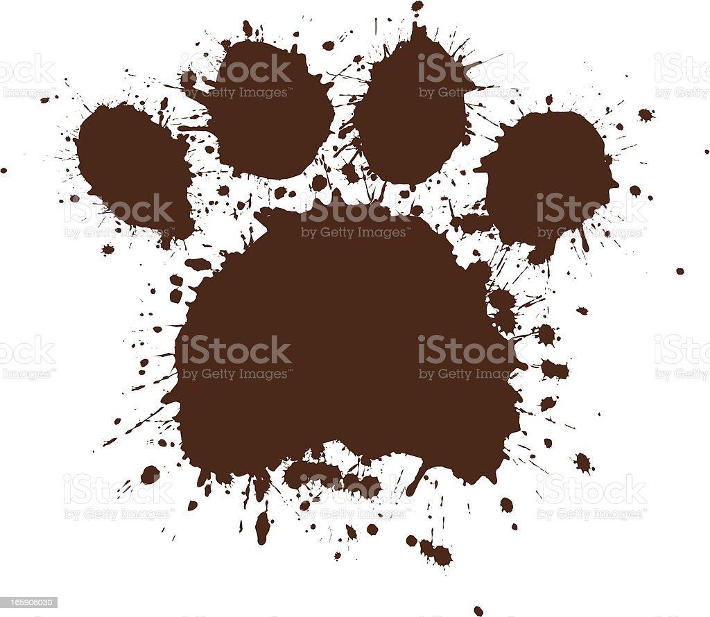 Dirty Paw vector art illustration