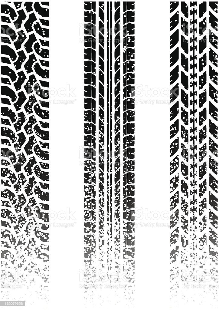 dirty tread royalty-free stock vector art