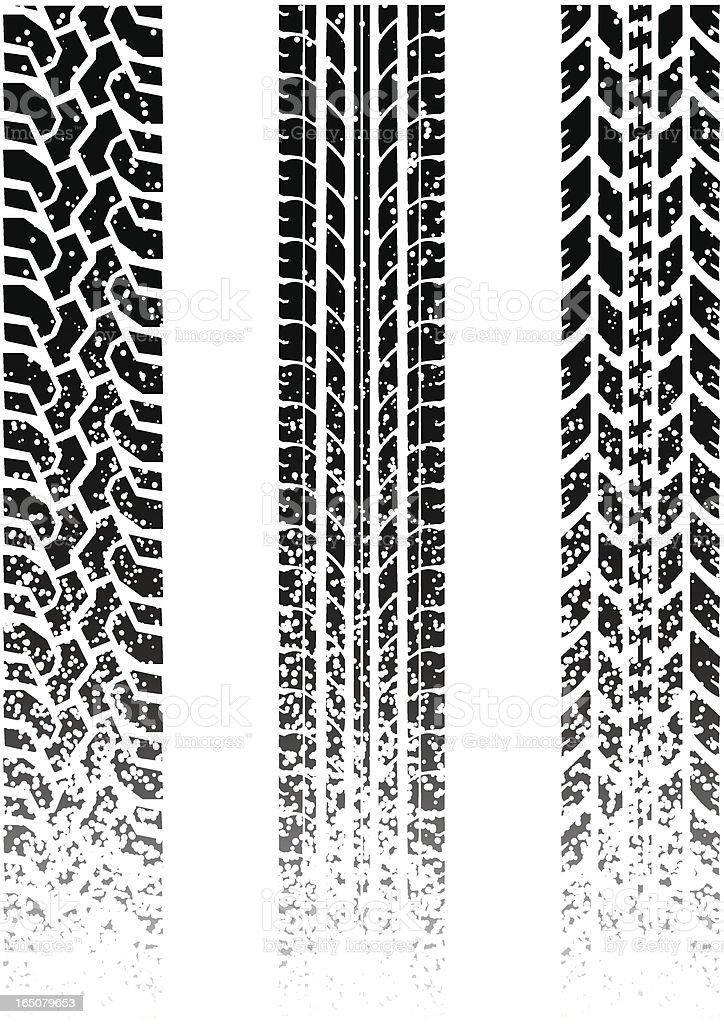 dirty tread vector art illustration