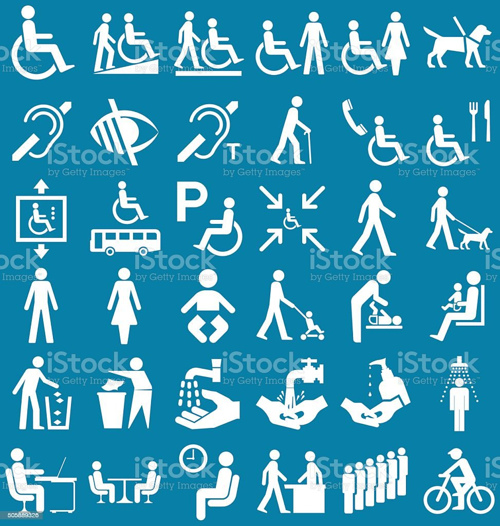 Disability and people Graphics vector art illustration