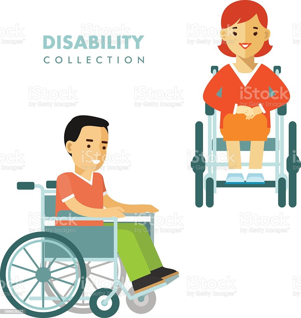 Disability person concept vector art illustration