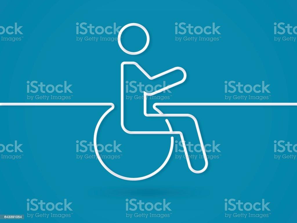 Disability Wheelchair Symbol vector art illustration