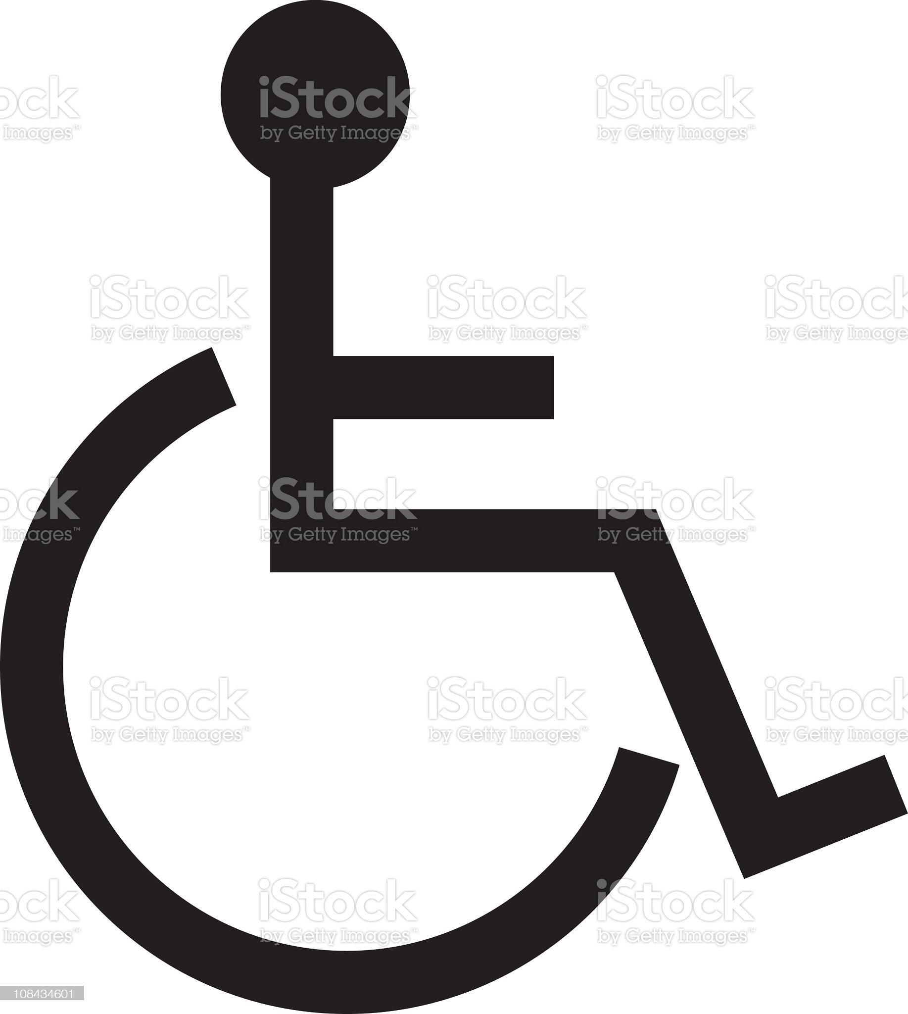 Disable symbol - vector royalty-free stock vector art