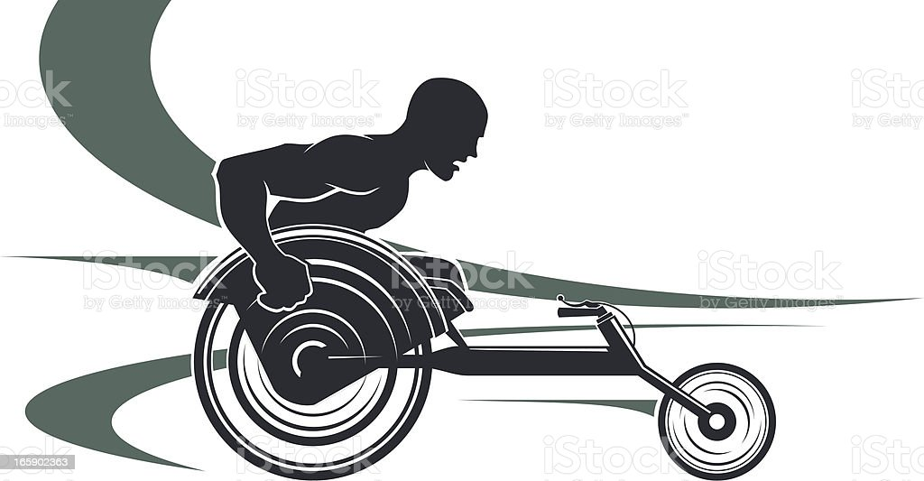Disabled athlete royalty-free stock vector art