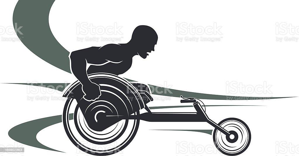 Disabled athlete vector art illustration