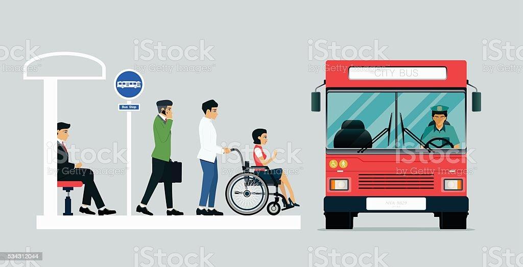 Disabled bus vector art illustration