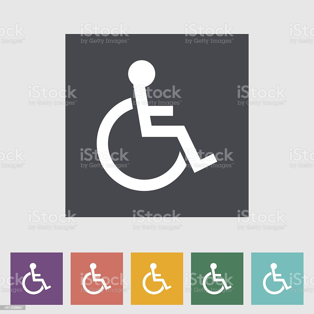 Disabled flat single icon. royalty-free stock vector art