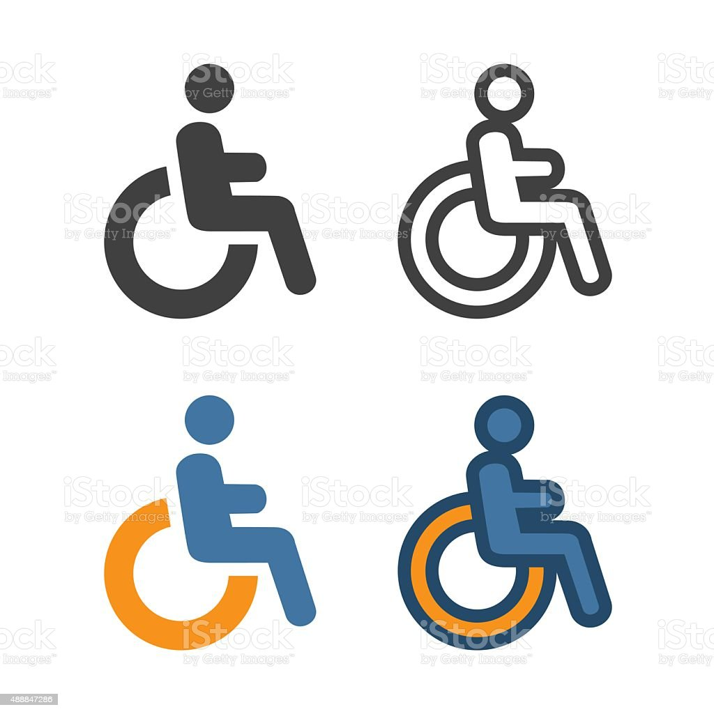 Disabled Handicap Icon vector art illustration