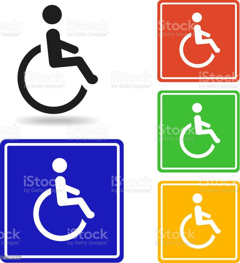 Disabled icon Vector.  handicap symbol vector art illustration
