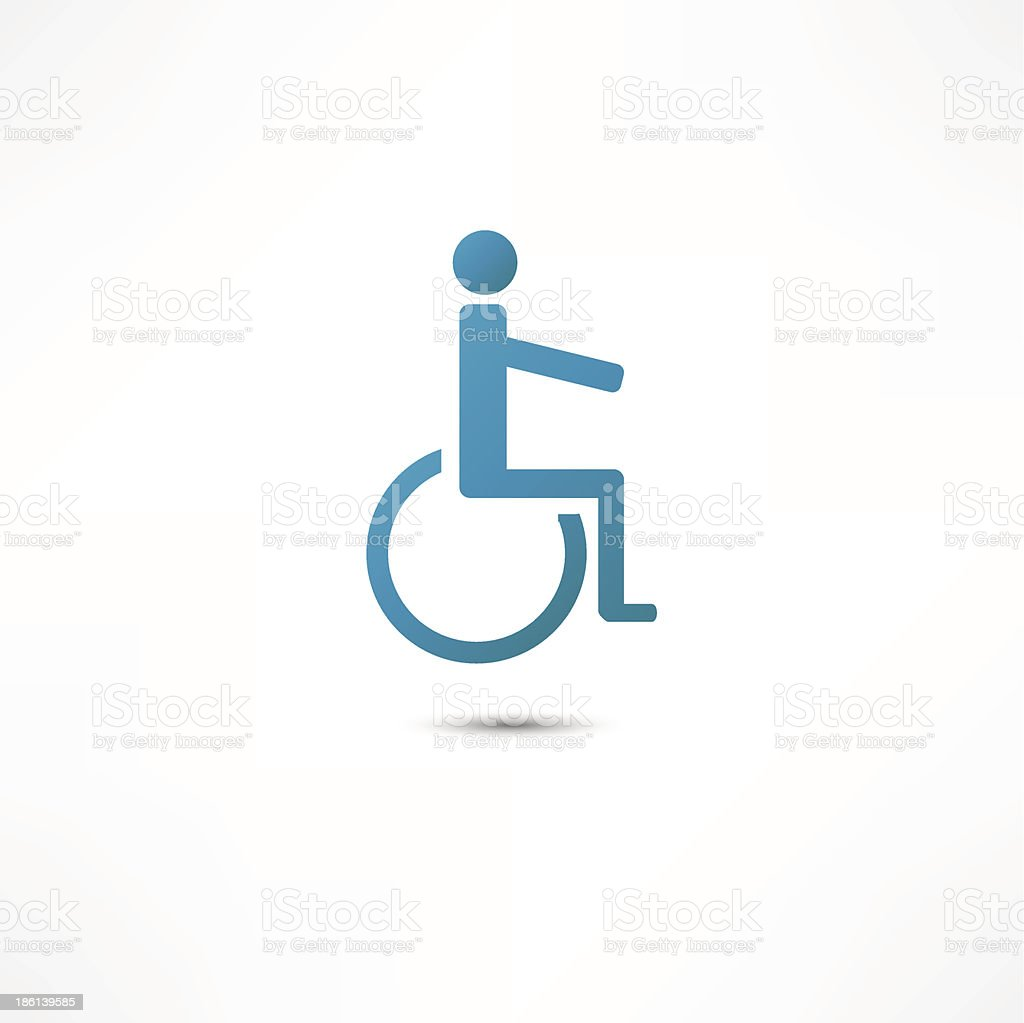 Disabled icon royalty-free stock vector art