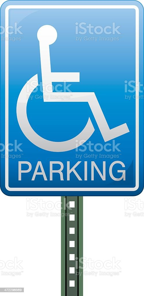 Disabled Parking Sign royalty-free stock vector art