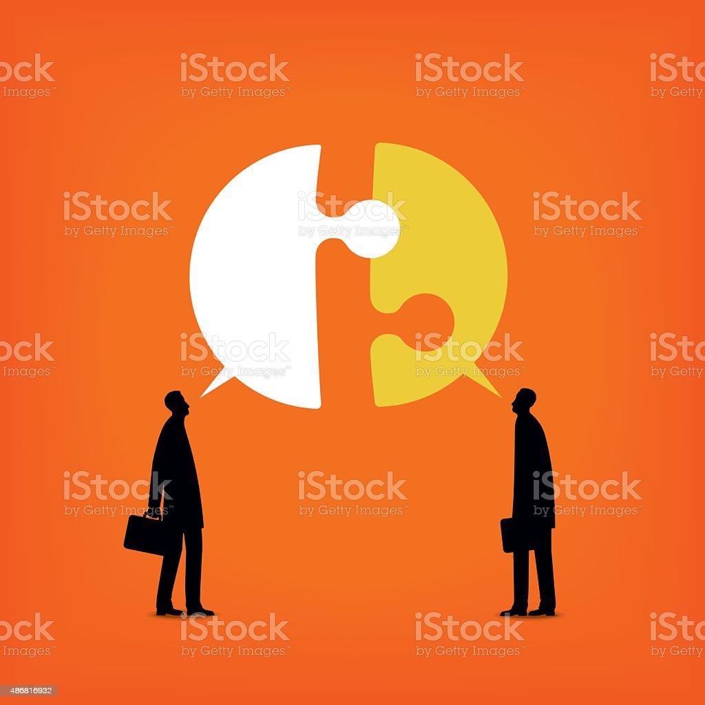 Disagree vector art illustration