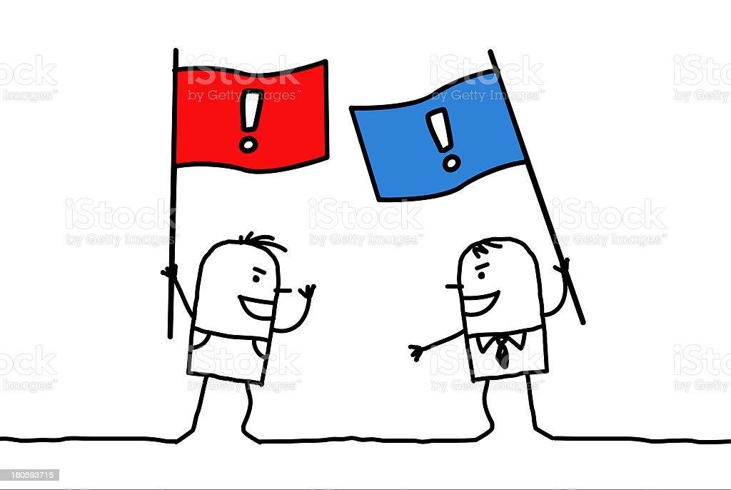 disagreement between political parties royalty-free stock vector art