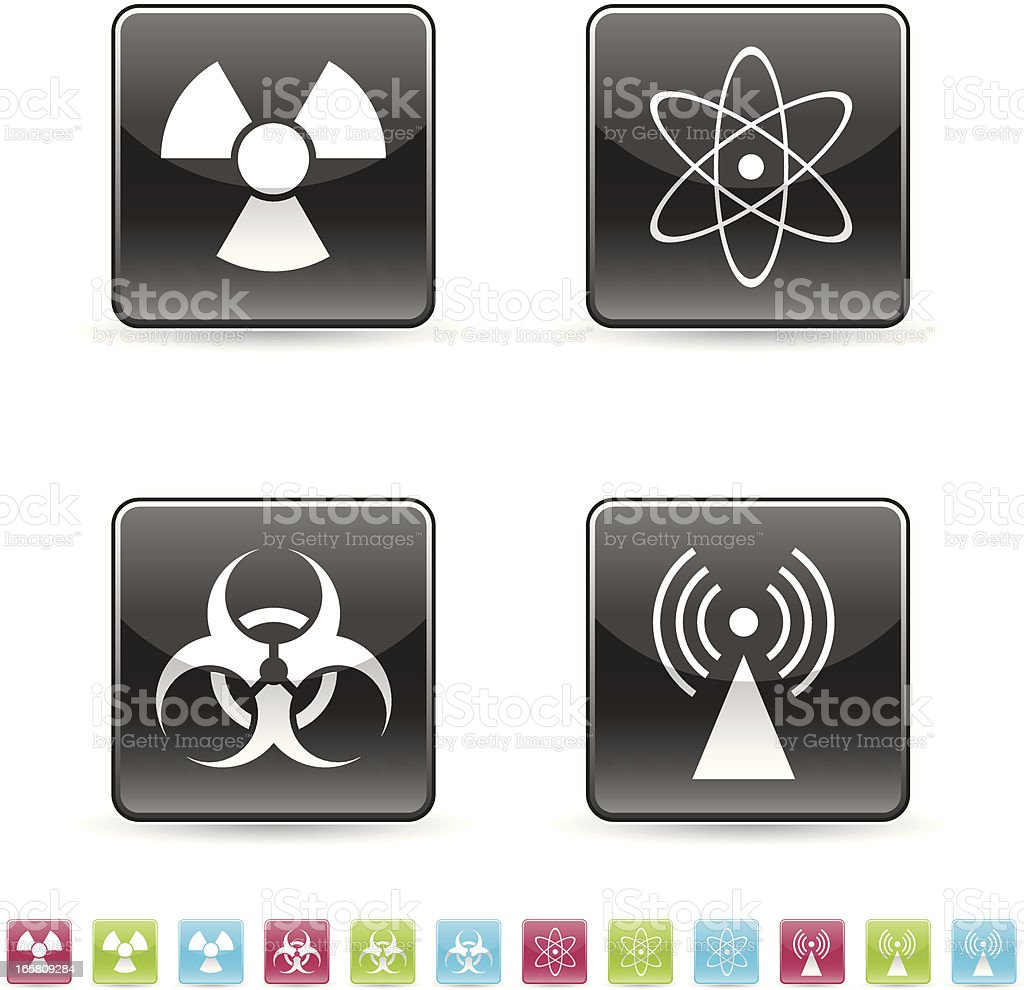 Disaster icon set royalty-free stock vector art