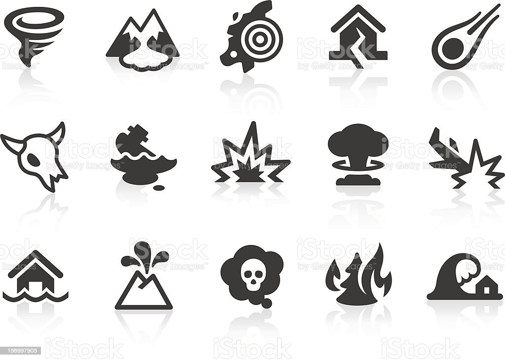 Disaster icons vector art illustration