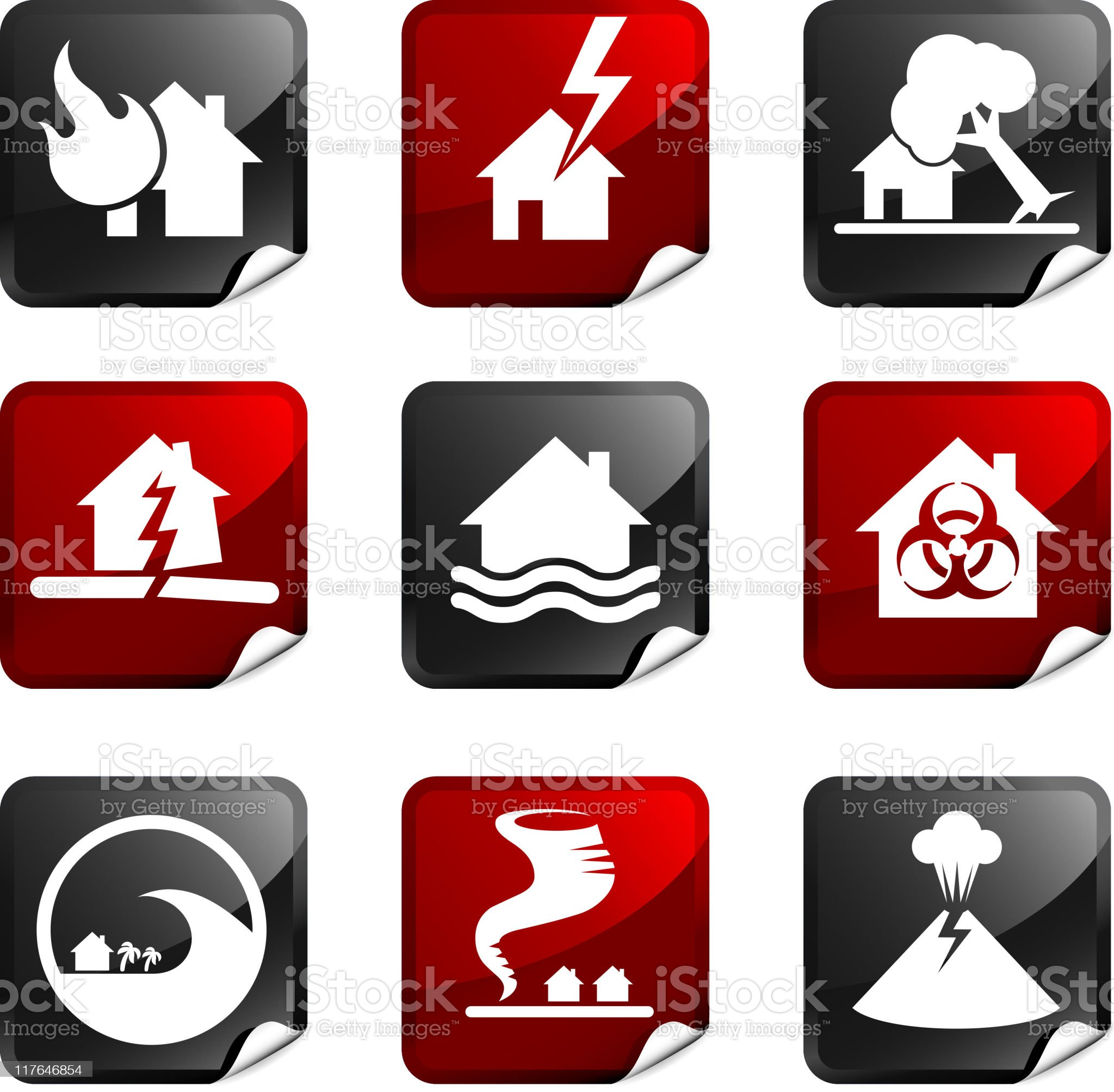 disaster royalty free icons royalty-free stock vector art