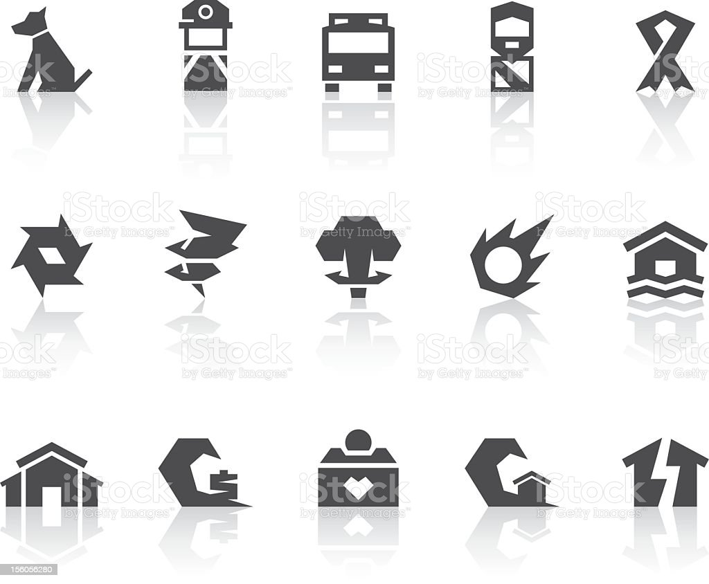 Disaster Salvation Icons | Simple Black Series royalty-free stock vector art