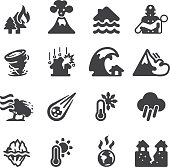 Disaster Silhouette icons   EPS10