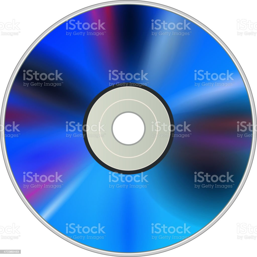 DVD CD disc royalty-free stock vector art