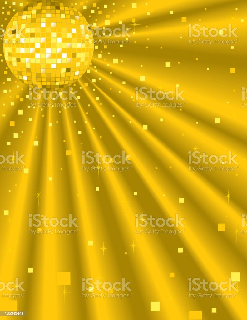 Disco Ball Background royalty-free stock vector art
