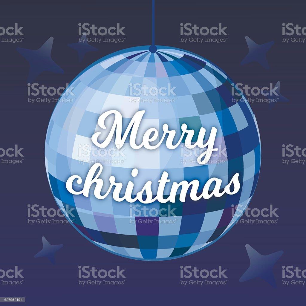 Disco Ball Vector Background Merry Christmas vector art illustration