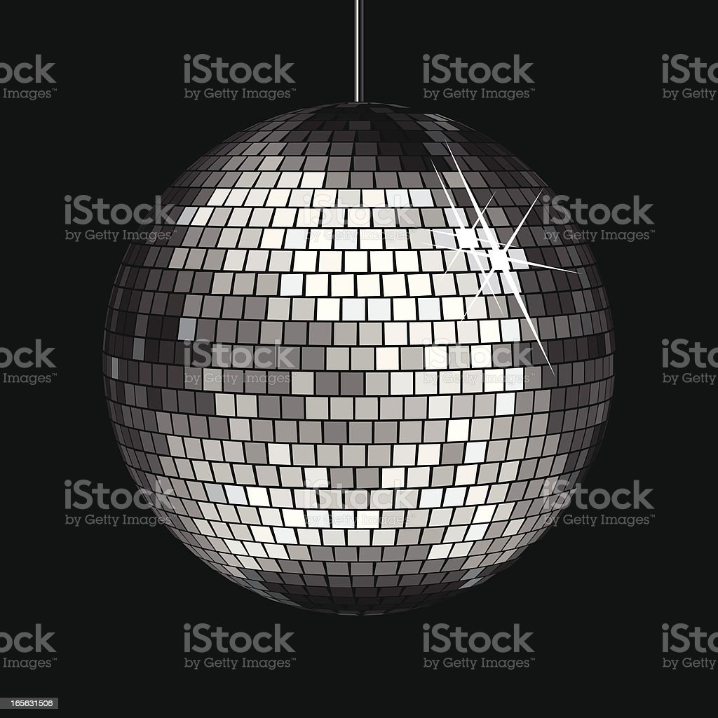 Disco Ball vector art illustration