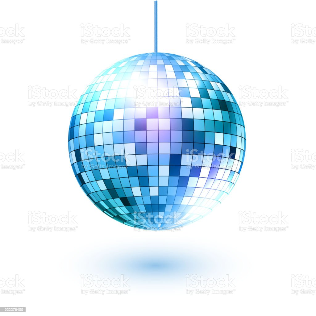 Disco ball. Vector illustration. Isolated. vector art illustration
