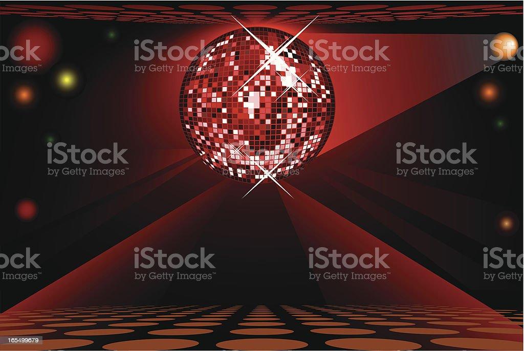 Disco ball - VECTOR royalty-free stock vector art