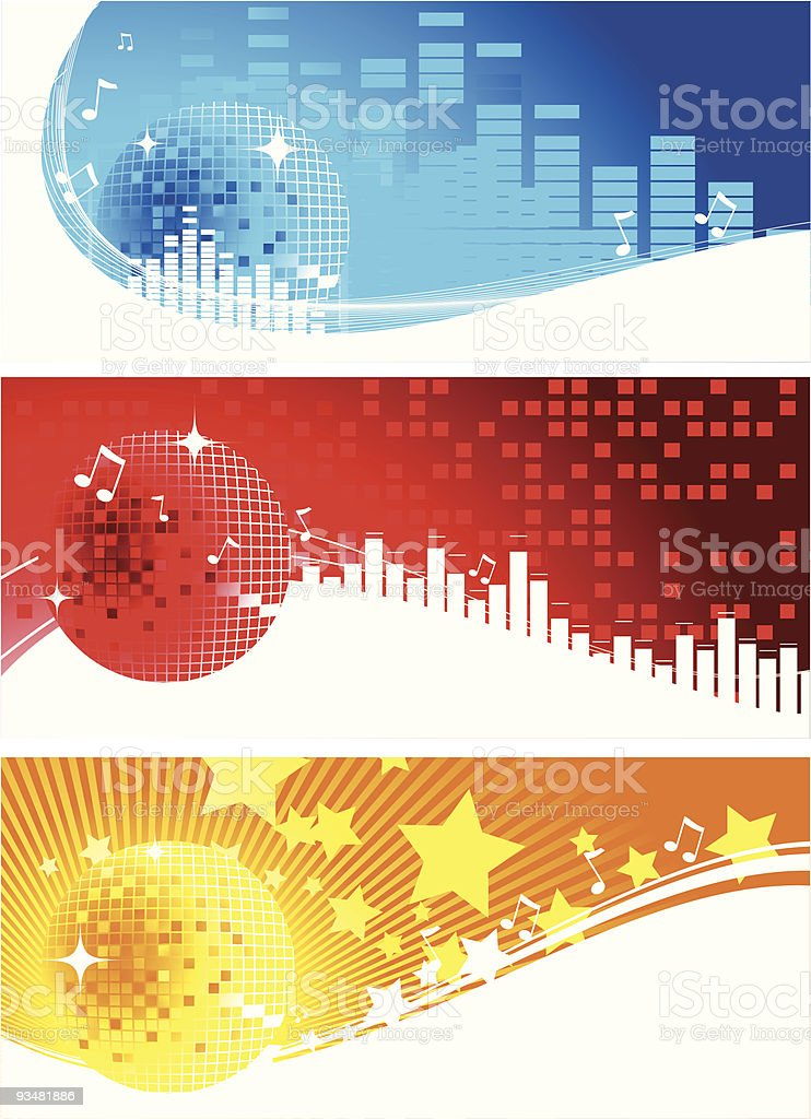 Disco banners royalty-free stock vector art