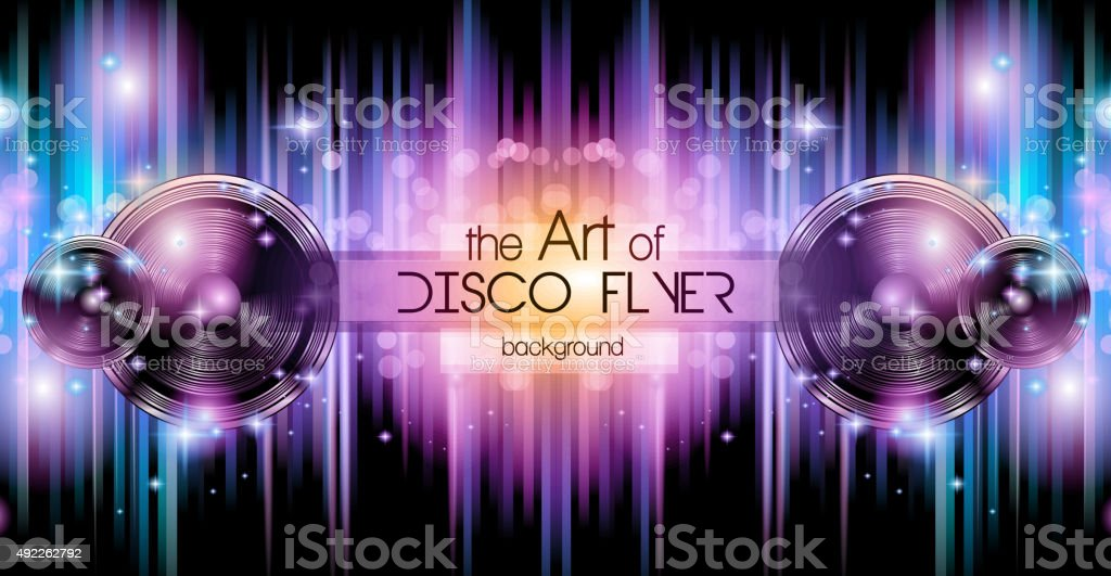 Disco Club Flyer Template for your Music Nights Event. vector art illustration