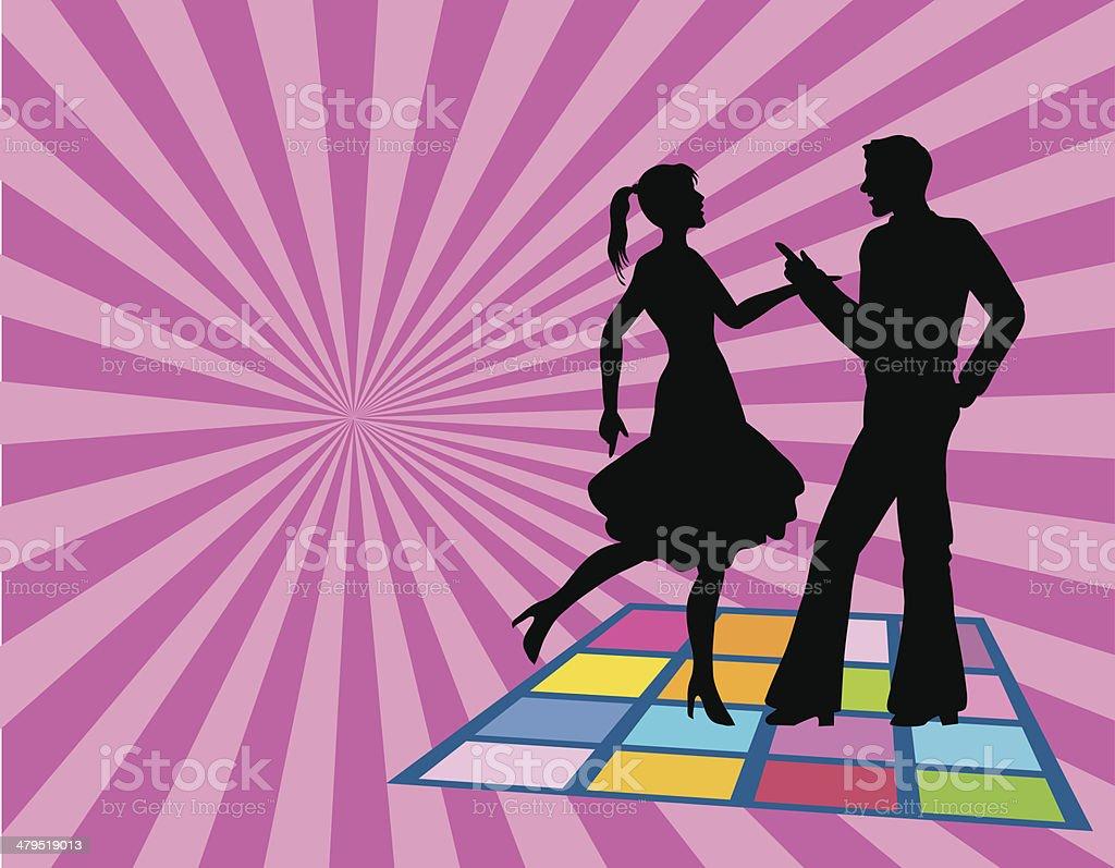 Disco dance floor vector art illustration