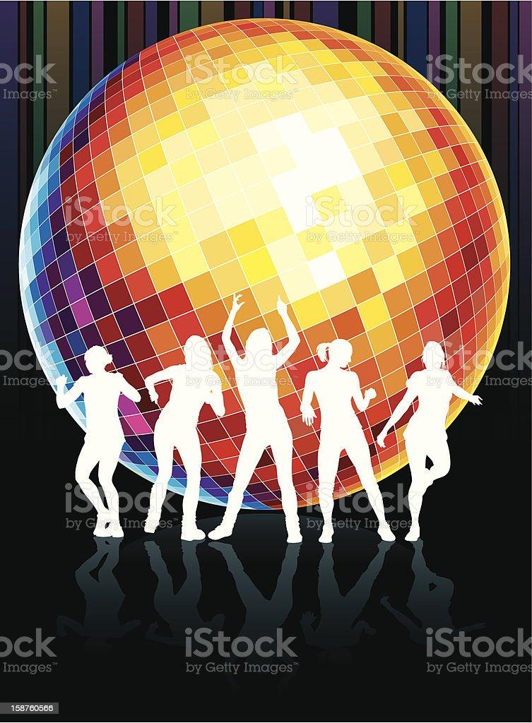 Disco dance vector art illustration