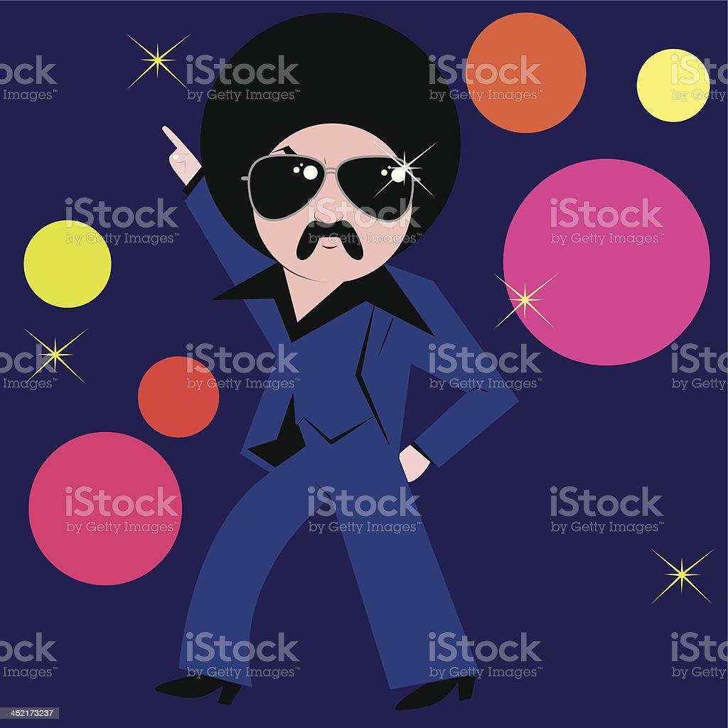 Disco dancing guy royalty-free stock vector art