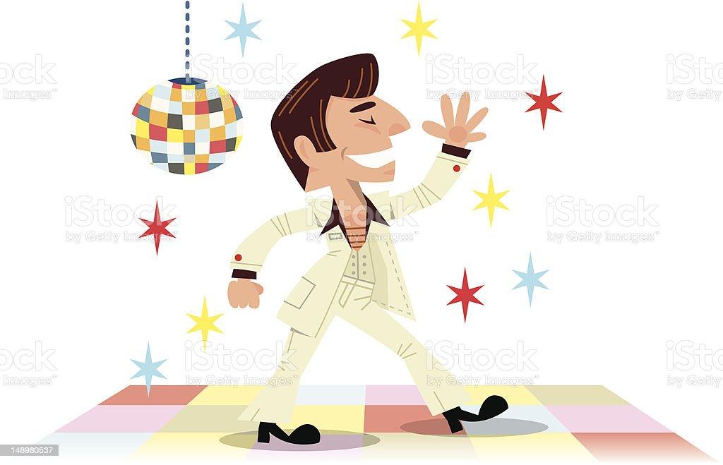 Disco Dancing vector art illustration