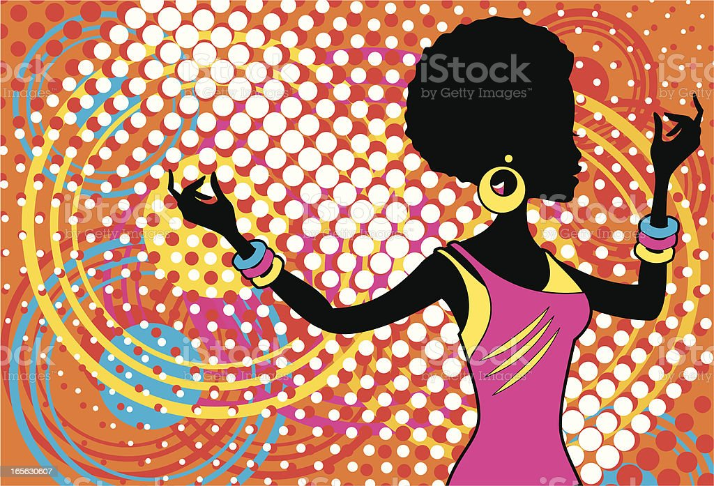 Disco Diva royalty-free stock vector art