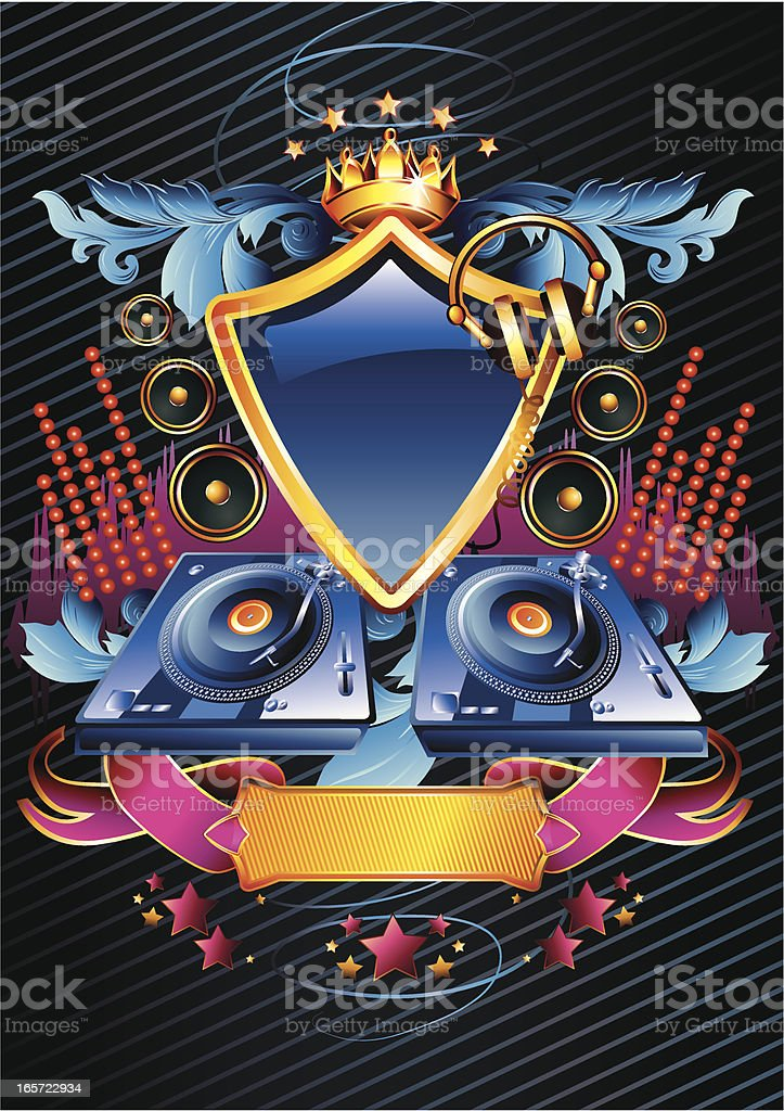 Disco emblem royalty-free stock vector art